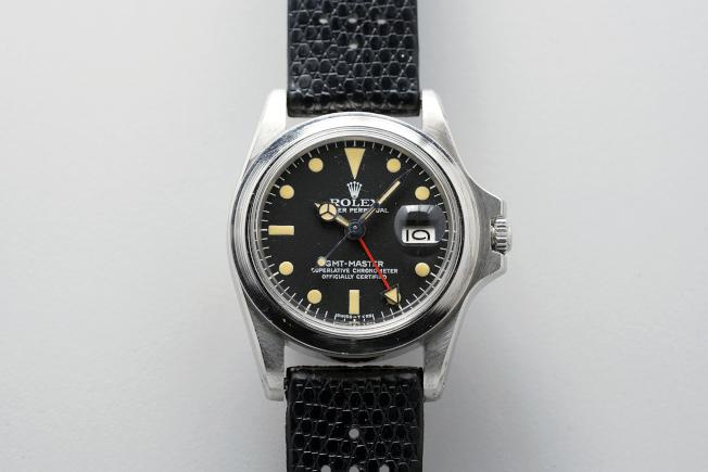 马龙白兰度的无表圈劳力士GMT-Master 型号1675腕表将于12月透过富艺斯举办慈善拍卖。图/富艺斯提供