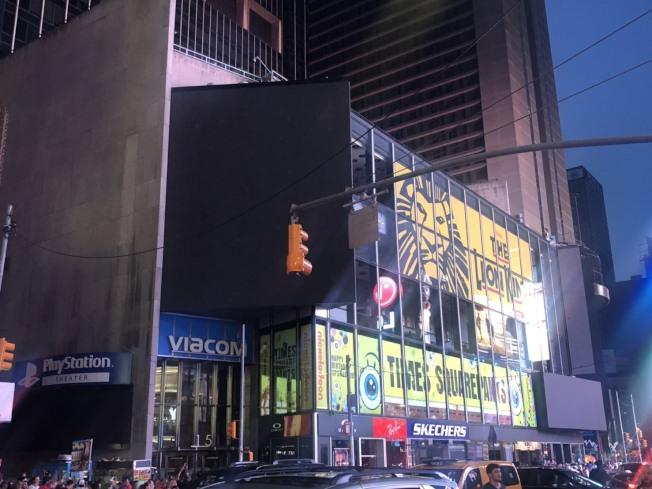 曼哈頓中城13日傍晚長達近三個小時的大停電。(記者張晨/攝影)