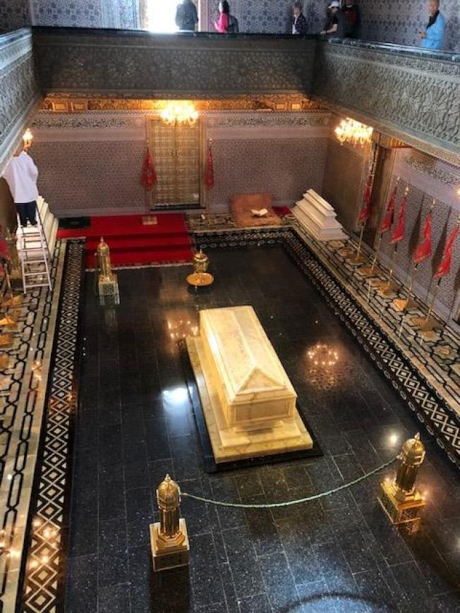 摩洛哥國王的黃金靈柩。