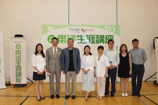 高曉晶(左起)、王惠嶽及劉其筠等與會嘉賓。(記者張晨/攝影)