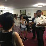 布碌崙61分局新局長訪華人教堂 籲防砸車盜竊