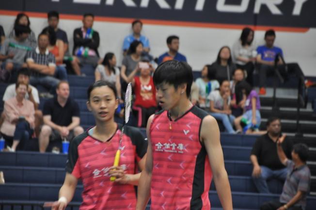 中華隊李哲輝(右)與許雅晴。(記者王若然/攝影)