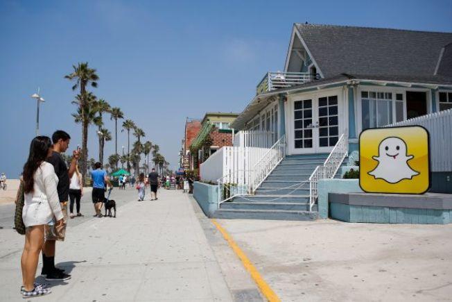 洛杉磯「矽灘」已初具規模,照片分享應用Snapchat母公司Snap,2013年將辦公樓設在洛杉磯市中心西南的威尼斯海灘。(Getty Image)
