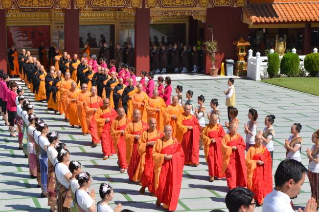 佛光山西來寺舉辦「 2019 盂蘭盆供僧法會」。(記者啟鉻/攝影)
