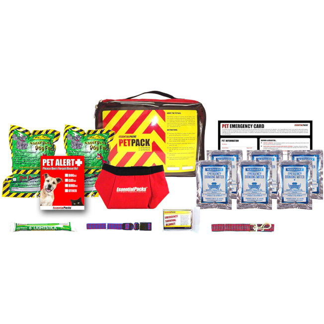 emergencykits.com網上有給貓或狗的兩款不同應急包。(取自emergencykits.com)
