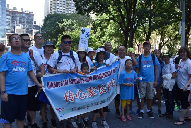 「傳心家長協會」共有30個家庭報名參加第五屆紐約市殘障人士驕傲大遊行。(記者顏嘉瑩/攝影)