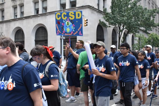 第五屆紐約市殘障人士驕傲大遊行14日在曼哈頓舉行。(記者顏嘉瑩/攝影)