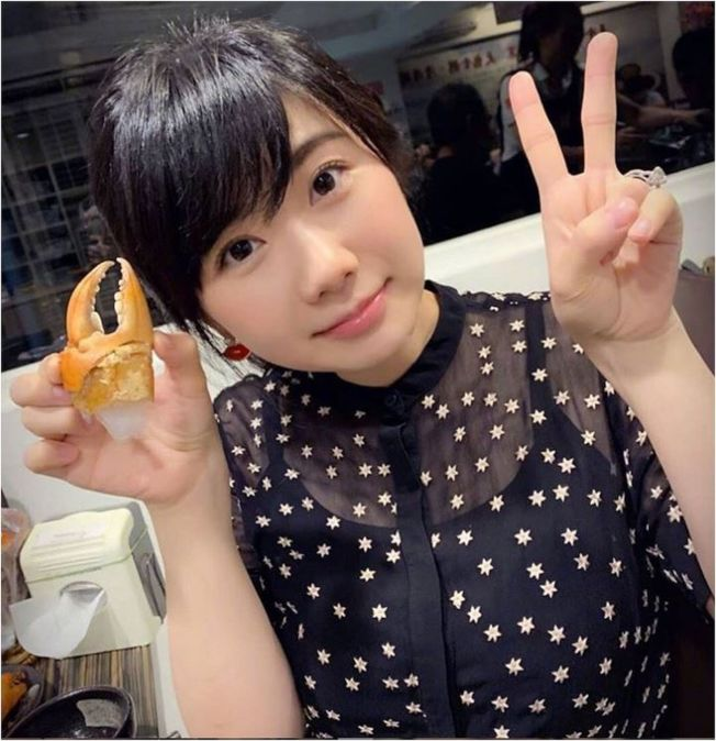 福原愛在推特曬出空心菜沙拉。(取材自Instagram)