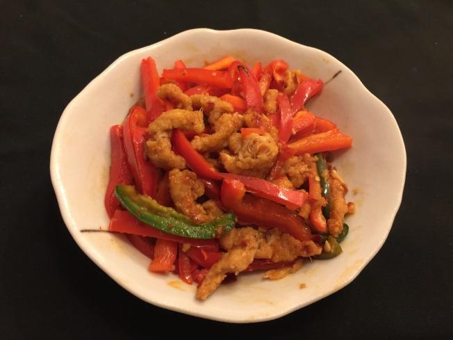 紅椒香辣雞