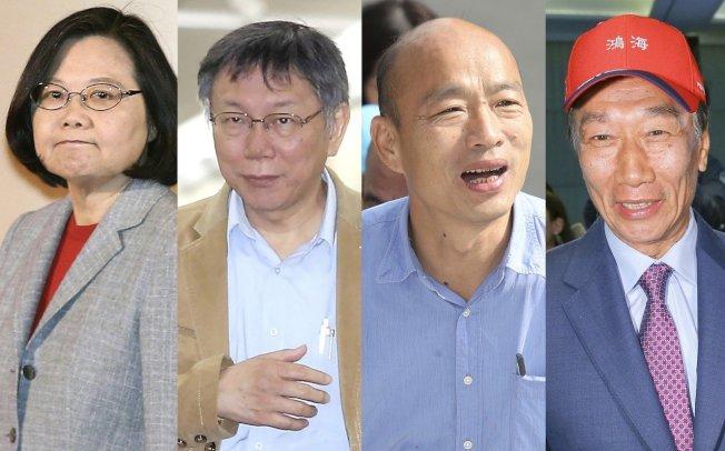 兩大黨雖已就定位,但國民黨初選落敗的前鴻海董事長郭台銘,至今還在思考下一步;台北市長柯文哲則表示最遲9月將宣布是否投入總統大選。圖/聯合報系資料照