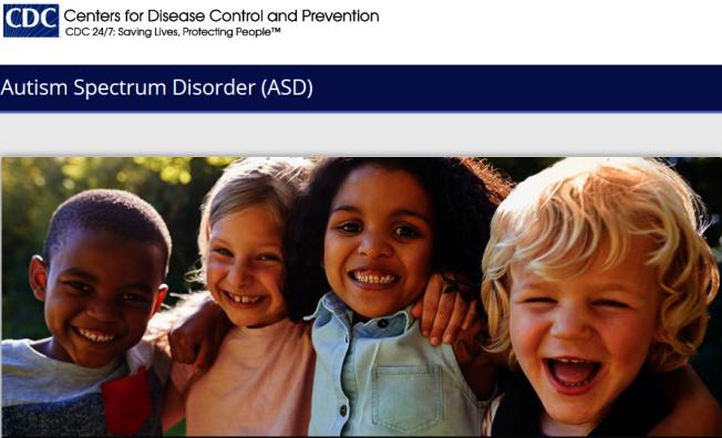 聯邦疾病防治中心(CDC)表示,自閉症可在18個月或更小年齡就發現。(CDC官網)