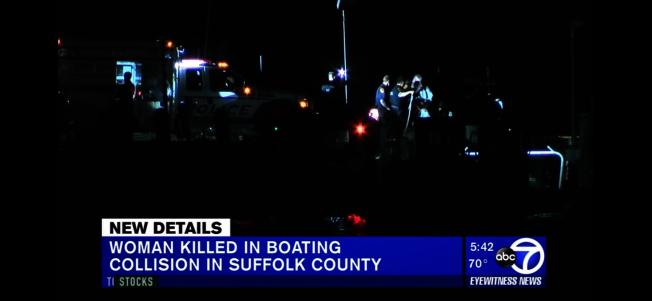 許密華與丈夫陳傑克駕船被一艘遊艇撞翻落海身亡。(ABC7視頻截圖)