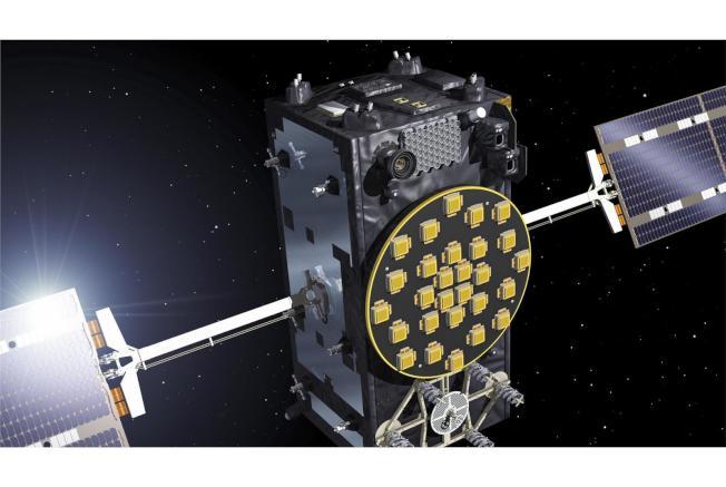 歐洲伽利略導航系統發生故障,暫時無法提供定位服務。圖為伽利略導航衛星想像圖。(取自歐洲太空總署網站)