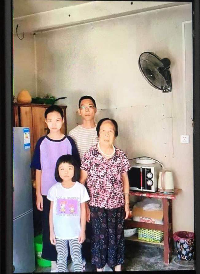 羅保華的丈夫、婆婆和兩個女兒都在連江老家,是她最想念的人。(羅保華提供)