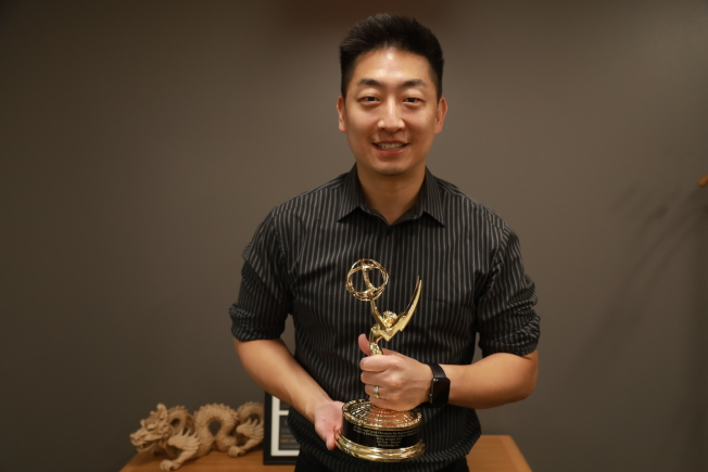 邵才浩贏得首都艾美獎。(記者羅曉媛╱攝影)
