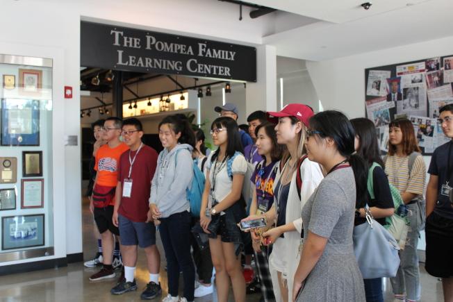 第七屆鑑識科學營15日在康州紐海文大學開營。(記者賴蕙榆/攝影)