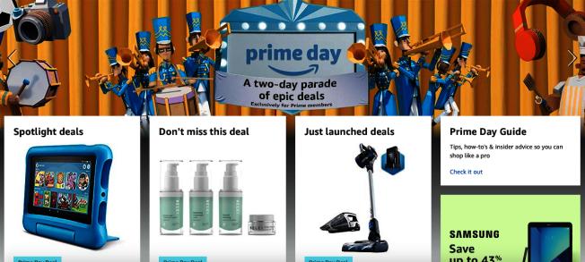 亞馬遜Prime Day限時會員促銷開始,48小時折扣不斷。(亞馬遜官網截圖)