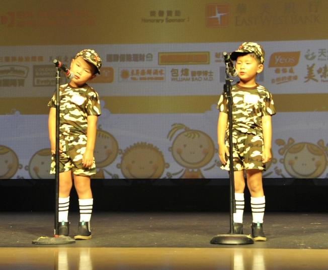 博文語言學校「小弟弟」,獲得最佳吐字清晰獎。(讀者提供)