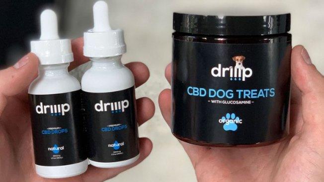 兩名聖地牙哥青年開創CBD公司,研發CBD狗糧食和油,名稱為「driiip」。(圖載自Fox 5)