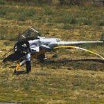 直升機墜毀海沃機場  一死一傷