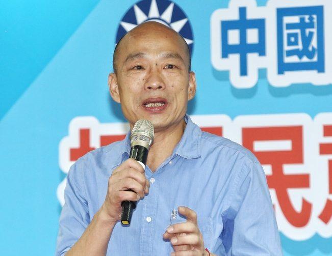 國民黨黨內初選民調韓國瑜勝出,表示仍會做好高雄市長。(記者曾原信╱攝影)