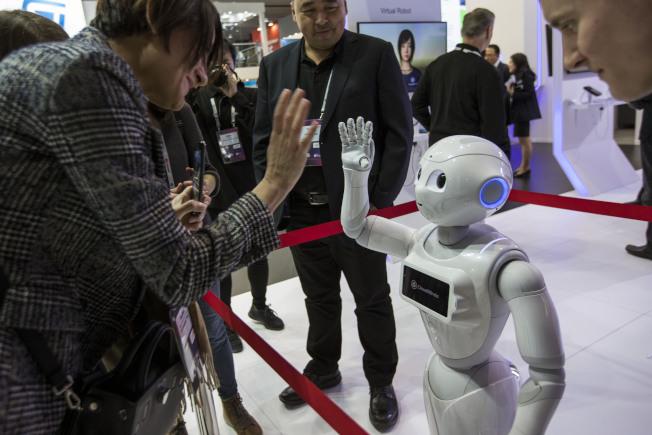軟銀機器人Pepper。美聯社