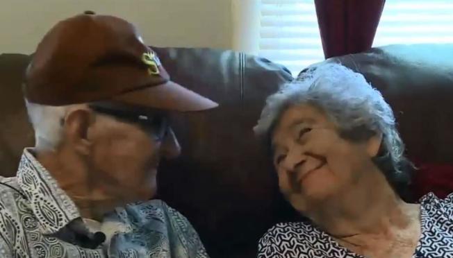 狄雷哥夫婦結婚71年依然恩愛。取材自wrdw.com