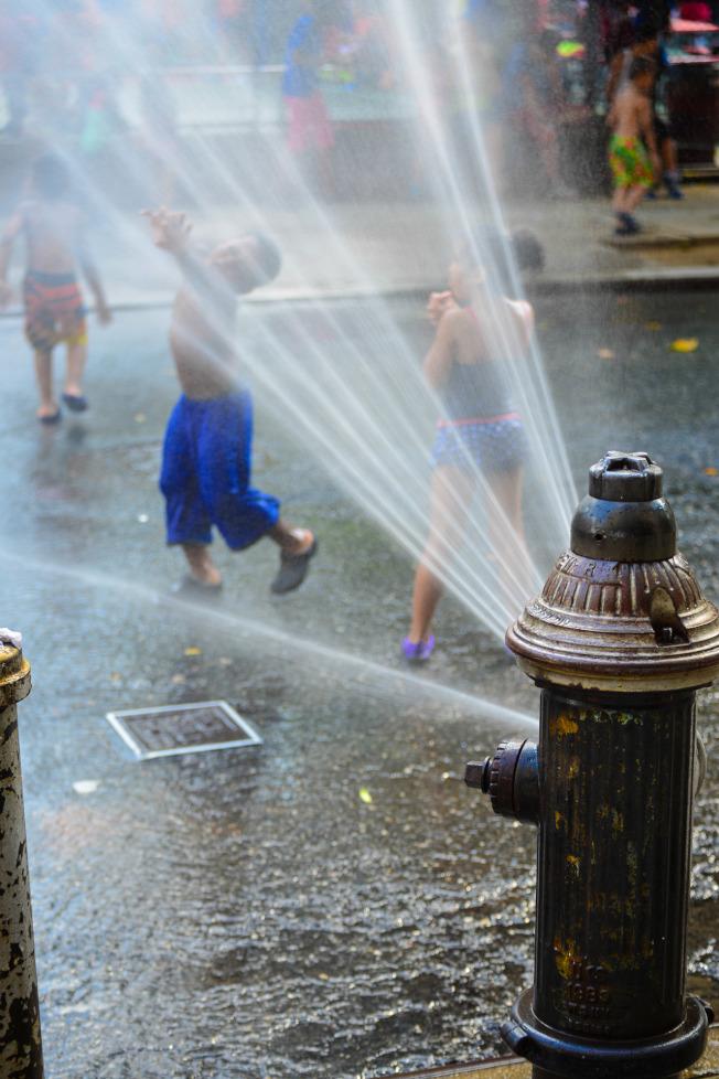 打開街邊消防栓灑水需要先申請。(市消防局提供)