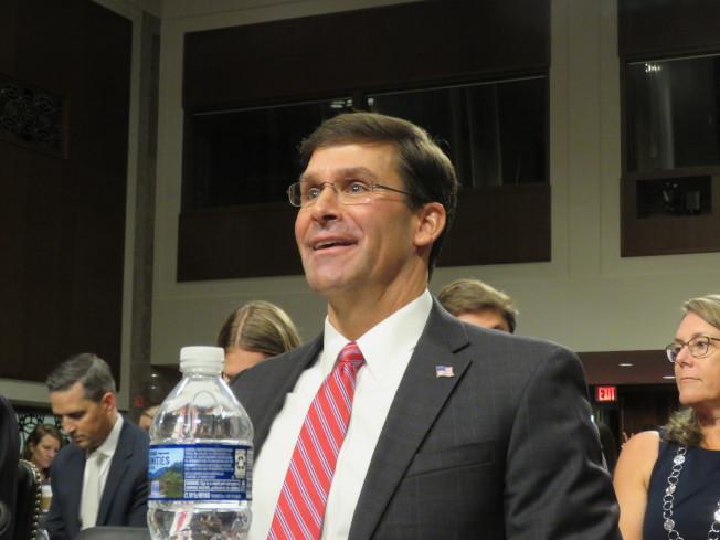 美國國防部長提名人艾思博。華盛頓記者張加/攝影