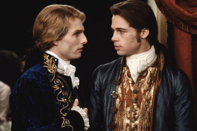 湯姆克魯斯與布萊德彼特合演「夜訪吸血鬼」時曾被傳不和。圖/摘自imdb