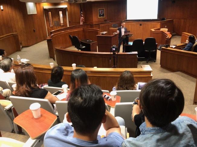 南北卡華人工商總會(CCCC)舉行財商講座。(記者王明心/攝影)
