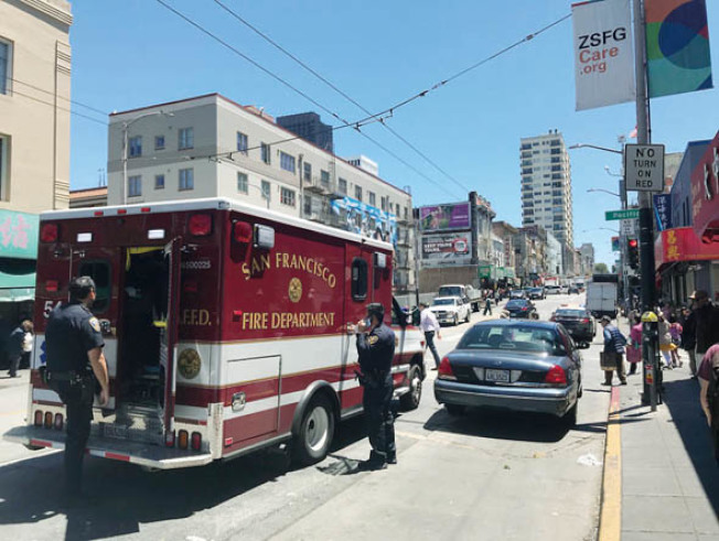 在兩僑領黃中華及黃宏昶被攻擊受傷的事件中,消防局的救護車延誤到場最少30分鐘。(記者李秀蘭/攝影)