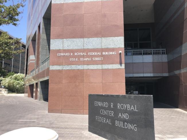 徐偉(Wei Xu,譯音)17日在Roybal聯邦法庭對全部四項指控供認不諱。(記者王若然/攝影)