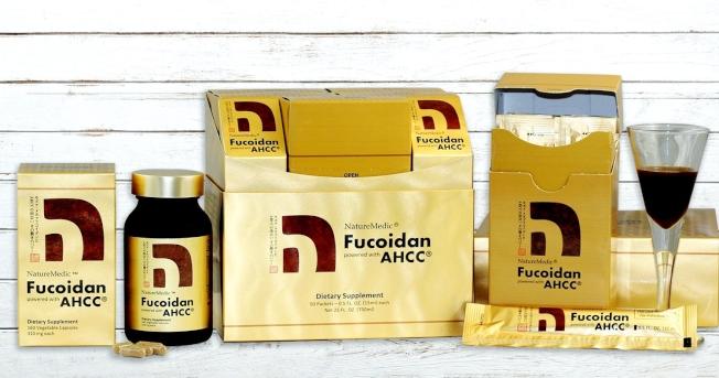 「自然醣褐藻糖膠AHCC」濃縮液包裝及膠囊包裝