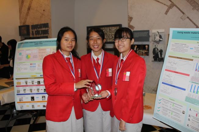 來自新加坡的楊佳美(左起)、陳慧珊以及蔡芷暄獲得季軍。(記者張晨/攝影)