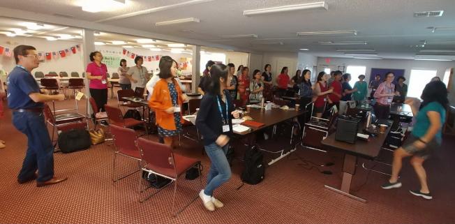 佛州暑期教師研習會上課一景。(圖:吳妙慧提供)