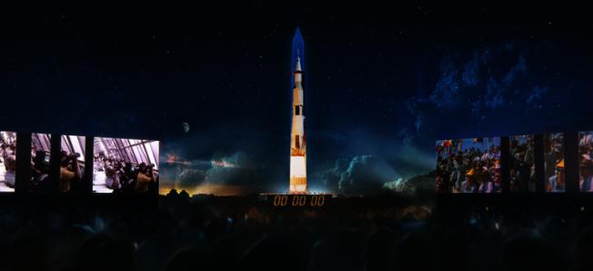 「阿波羅登月50周年」,國家廣場震撼演繹重現歷史。(主辦方提供)