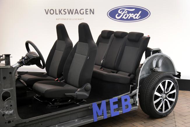 福斯和福特合作在共同平台上開發新電動車。(美聯社)