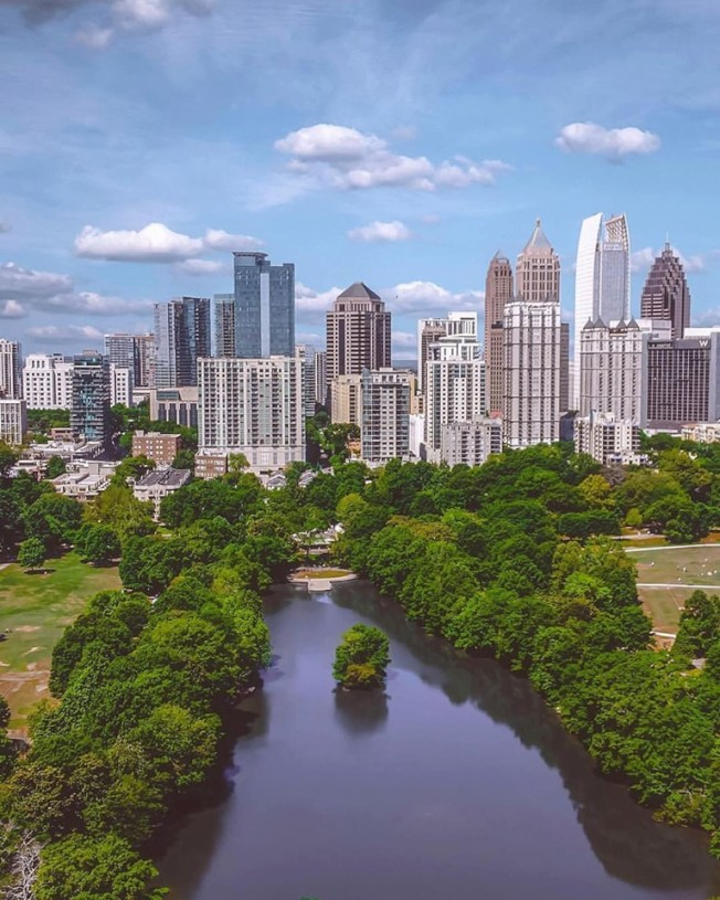 亞特蘭大獲評最佳綠化城市。(取自Discover Atlanta臉書)
