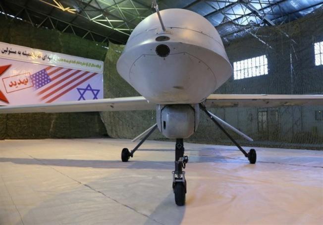 伊朗電視播出仿製美國的無人機。(路透)