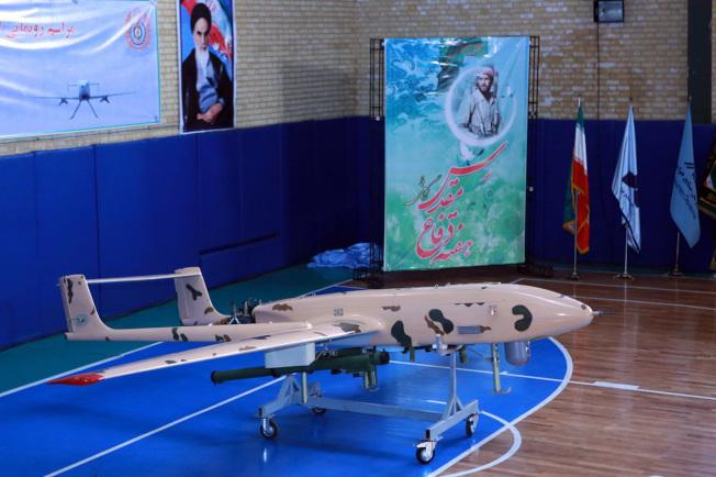 伊朗國防部發布的自製無人機照片。(Getty Images)
