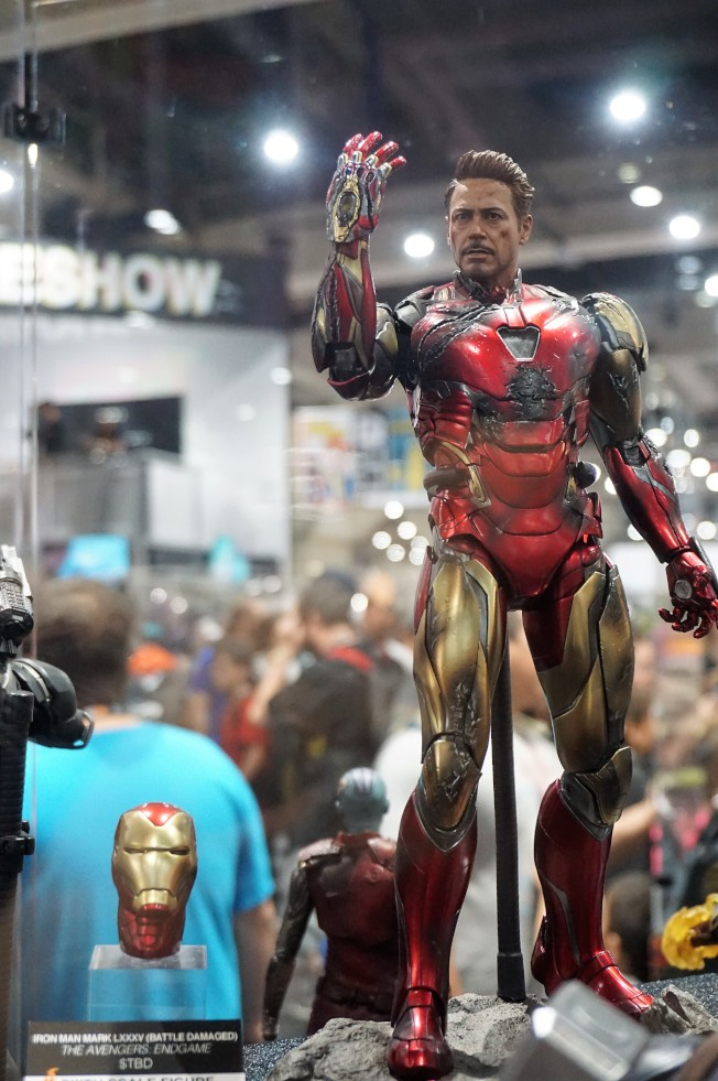 鋼鐵俠犧牲場景玩具高度還原,在本次SDCC動漫展中最受歡迎。(記者馬雲/攝影)