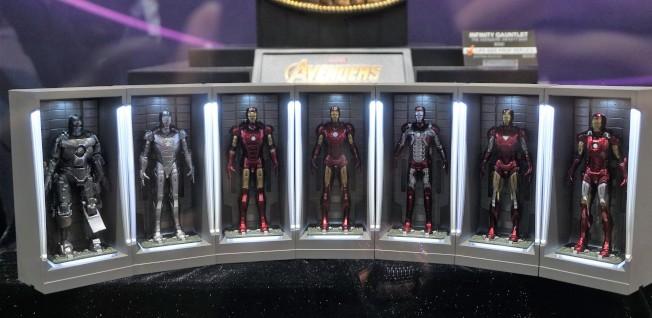 十年漫威電影中出現的鋼鐵俠戰甲迷你版。(記者馬雲/攝影)