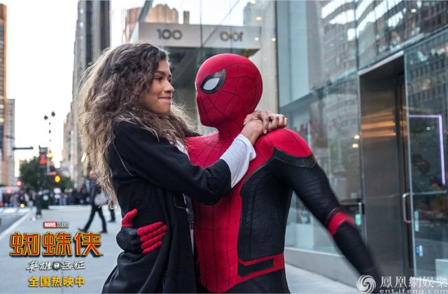 「蜘蛛人:離家日」在中國票房亮眼。(取材自鳳凰網)