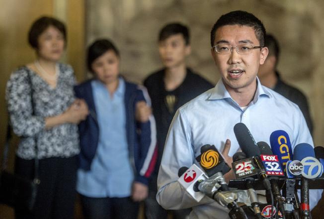 章瑩穎男友侯霄霖在全案判決後講述他的感覺。(美聯社)