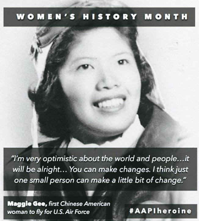 二戰時在美國女子航空勤務飛行隊服務的朱美嬌曾獲國會金章獎。(圖片取自推特)