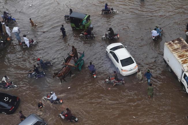 巴基斯坦正遭遇嚴重洪災。(Getty Images)