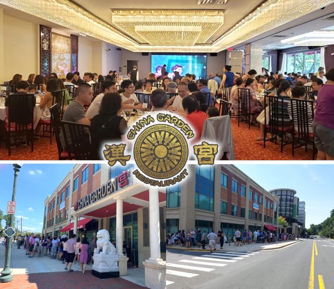 漢宮大酒樓重新開張試營業,人龍如潮,座無虛席,場面震撼。