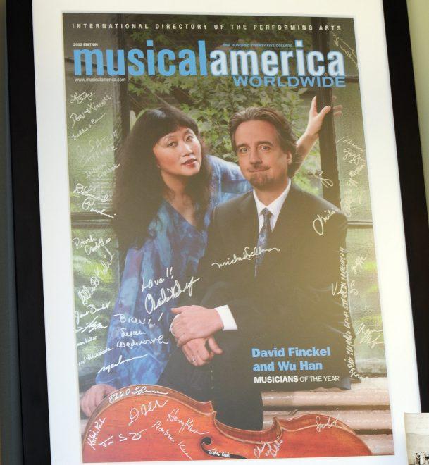吳菡與夫婿大衛.芬克爾2012年共同獲得「美國音樂年鑑」年度音樂家榮譽。(許振輝/攝影)