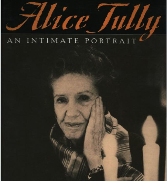 愛麗絲.圖利(Alice Tully)傳記封面。(亞馬遜網站)